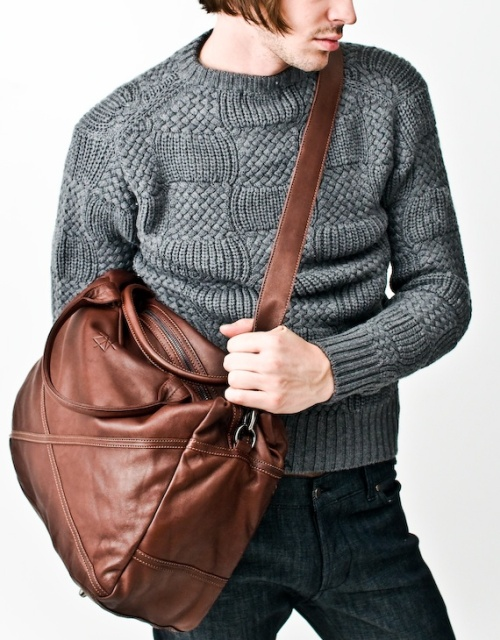 Brown Weekend bag by Surface to Air