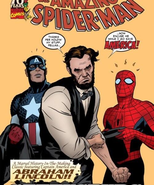 abraham-lincoln-amazing-spiderman-comic
