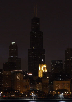Earth Hour 2009 Sears Tower