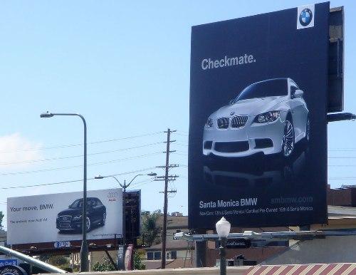 audi-bmw-ad-war-cali-billboard-checkmate-1