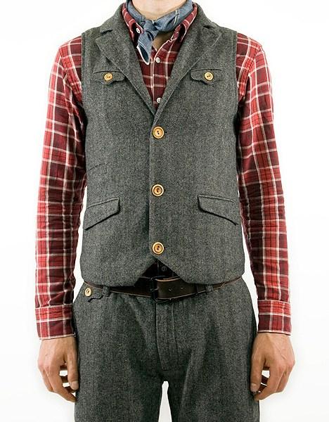 Creep by Hiroshi Awai Herringbone Vest