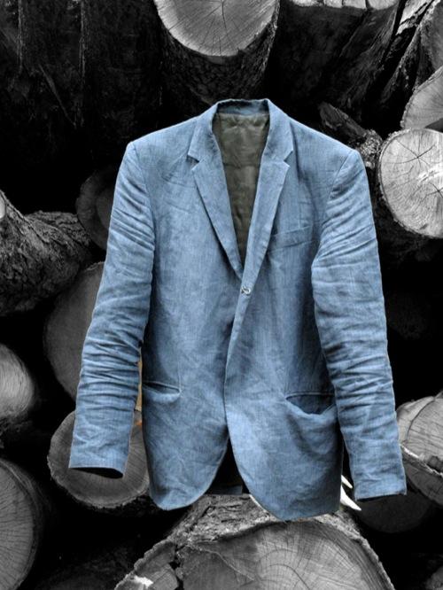assembly linen denim blazer por homme contemporary men 39 s lifestyle magazine. Black Bedroom Furniture Sets. Home Design Ideas