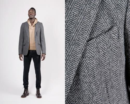 Dries Van Noten Beaton Herringbone Jacket
