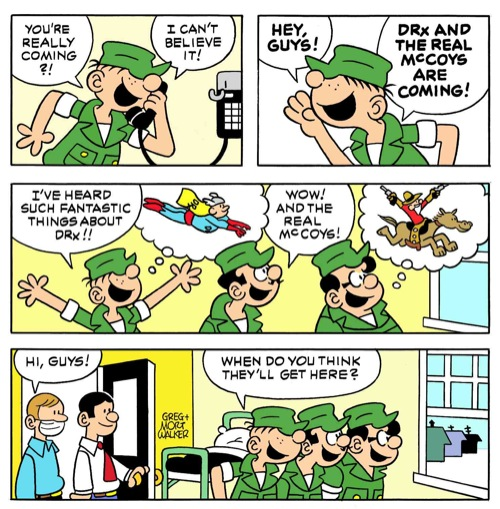Beetle Bailey by Dr. Romanelli and The Real McCoys' Hitoshi Tsujimoto
