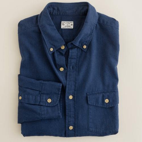 The Buy   J.Crew Brushed Twill Utility Shirt