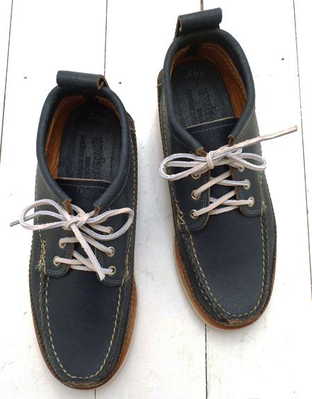 Yuketen Wax Flesh Blue Maine Guide Oxford Shoe