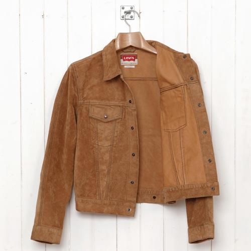 fd65270b1 Levi's Vintage Clothing   Tan Suede Type III Trucker Jacket - Por ...