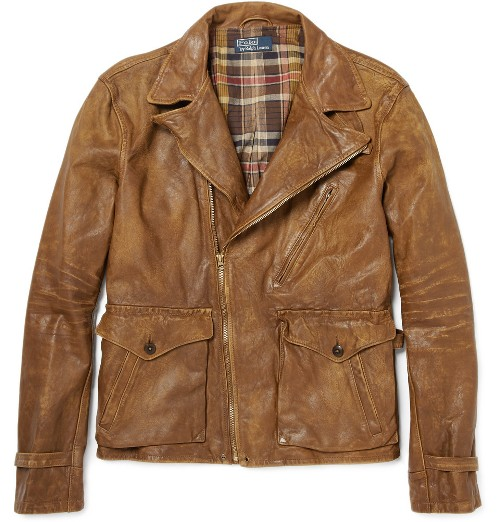 Polo Ralph Lauren Wilkins Distressed Leather Jacket