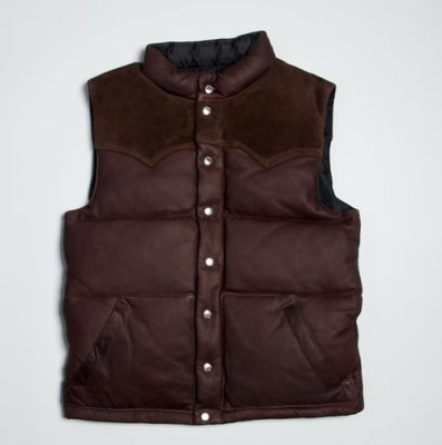 Real McCoys Deer Skin Down Vest