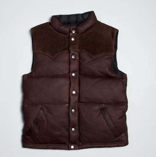 Real McCoys Deer Skin Down Vest