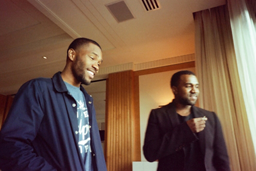 Kanye West with Frank Ocean and Tyler, The Creator in the Studio