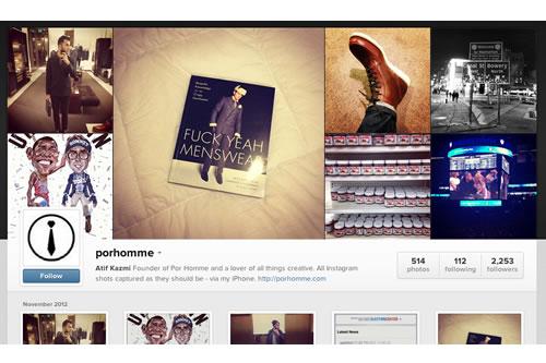 Now Online | Instagram Web Profiles - porhomme