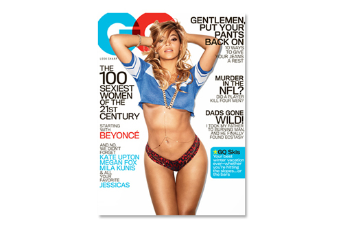 Beyoncé on Cover of GQ February 2013 'The 100 Sexiest Women of the 21st Century' Issue