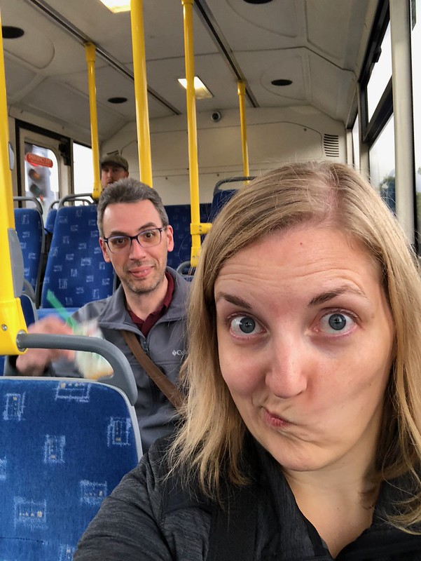 Jason and me on a local Glaswegian bus