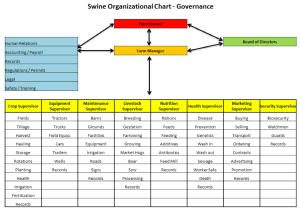 Table 1: Swine Organizational Chart - Governance