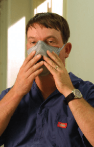 Respiratory protection should be considered for employees working in swine barns, where exposure to gases and dust may be high.