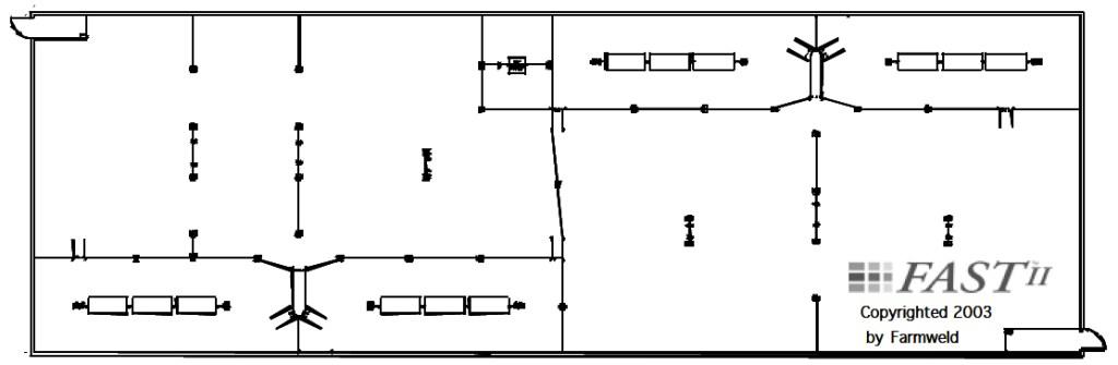 Illustration 2. Sort to Feed 1,000-Head Barn Drawing