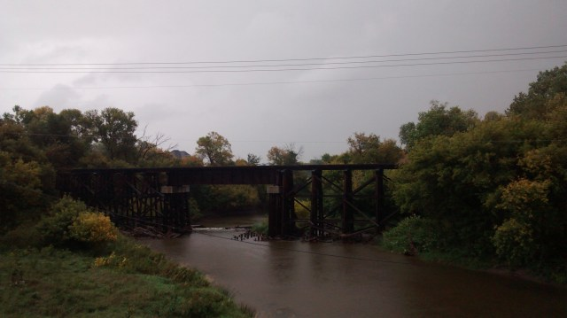 Not a great picture, but this is the trestle bridge my great-grandmother had to walk across to get to school.