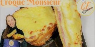 Croque Monsieur sanduiche de forma