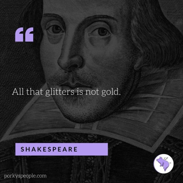 An inspirational quote from Shakespeare about life.