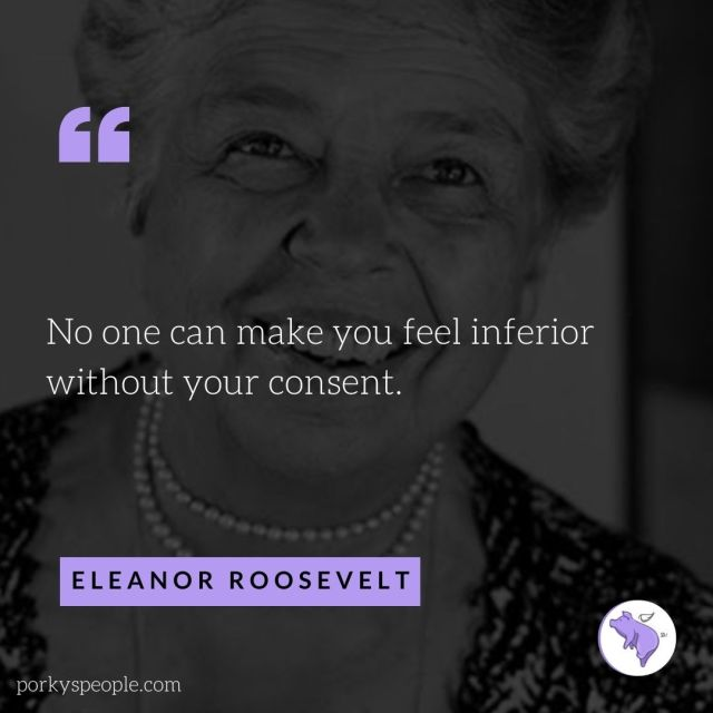 An inspirational quote from Eleanor Roosevelt about life.