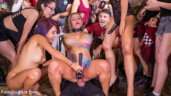 [PublicDisgrace – Kink] Tina Kay, Sienna Day – Busty Blonde Sienna Day Disgraced Fully Nude on Dirty Public Streets [540p]