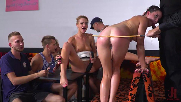 [PublicDisgrace – Kink] Cherry Kiss, RAM, Dolly Diore, Angel Rush – Dolly Diore's All Out Public Fuckfest [540p]