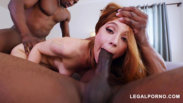 [LegalPorno] Red Head Spinner Pepper Hart Takes Double BBC Dosage – AB014 [720p]