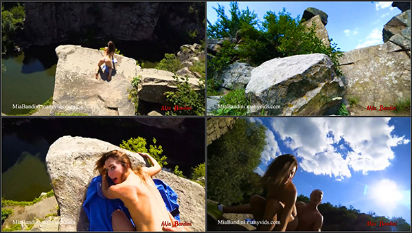 [PornHubPremium] WILD PUBLIC FUCKING ON A HIGH CLIFF IN CANYON – Mia Bandini [720p]