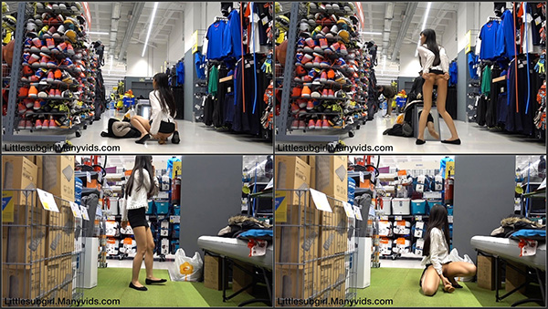 [ManyVids – Littlesubgirl] Get Busted In Sports Store Anal & Squirt [1080p]