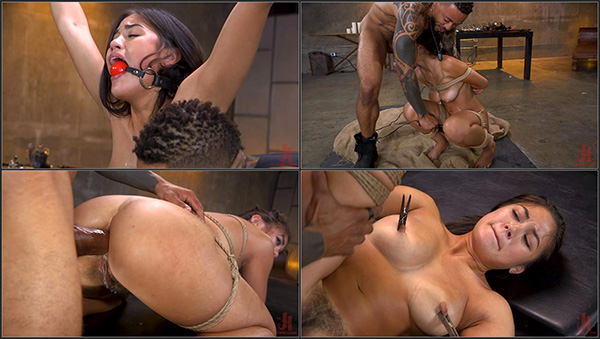 [BrutalSessions – Kink] Kendra Spade – New Slut Kendra Spade Bound in Rope, Anally Fucked With Enormous Cock! [720p]
