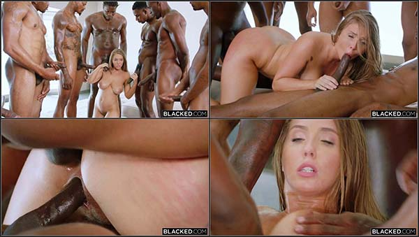 [Blacked] Lena Paul - Anything For Daddy - Lena takes on 7 Guys [720p HEVC x265]