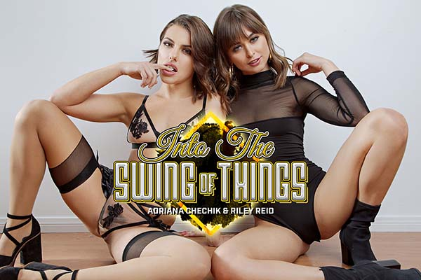 [BadoinkVR] Into The Swing Of Things Starring: Riley Reid and Adriana Chechik (GearVR/DayDream) [1440p 60FPS]