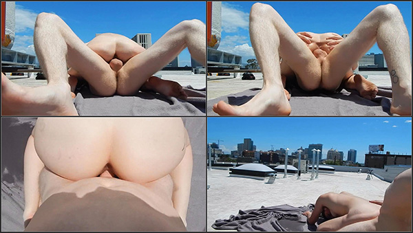 [PornHubPremium] PublicFuckers - REAL PUBLIC SEX Multiple Squirting Orgasms on City Roof [720p 30FPS]