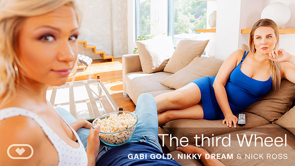 [VirtualRealPorn] The third Wheel - Gabi Gold, Nick Ross & Nikky Dream (GearVR Oculus/Go) [2160p x265/HEVC 60FPS]
