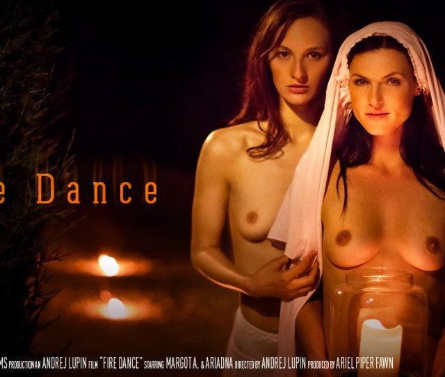 Sensual Lesbian Porn Video Fire Dance