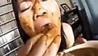 JAPANESE scat woman eating shit