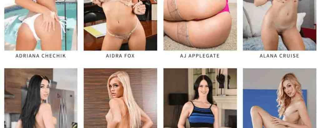 eight of the featured models on virtualrealporn