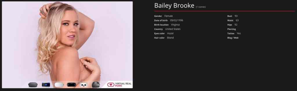 bailey brooke profile page on virtualrealporn