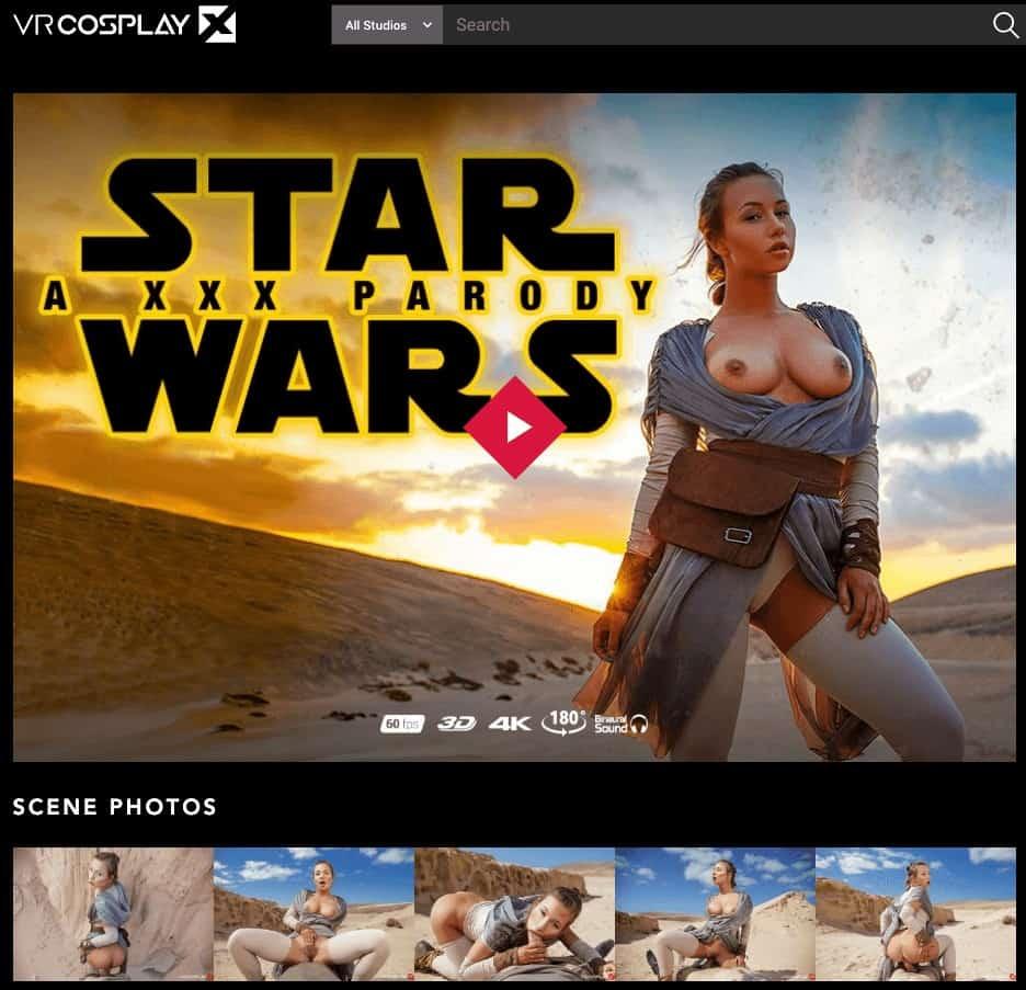 star wars parody movie cover on vrcosplayx
