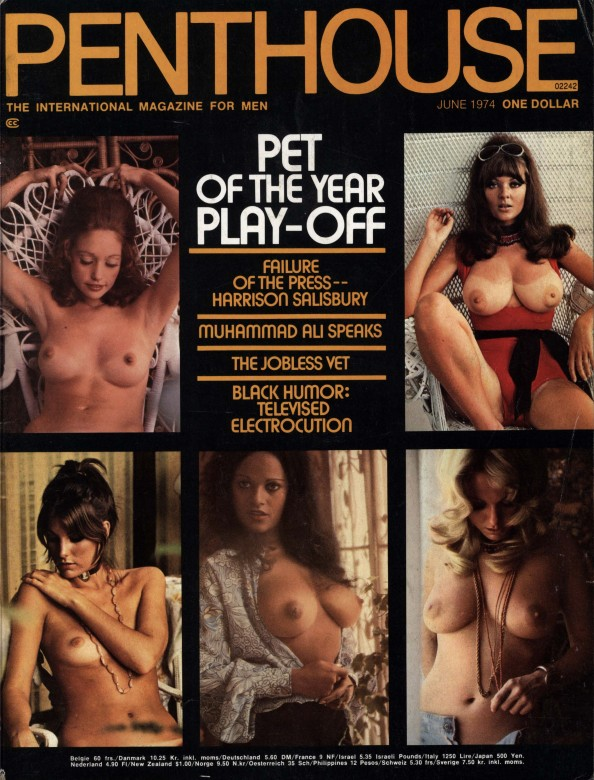 Alicia Justin on the cover of Penthouse magazine