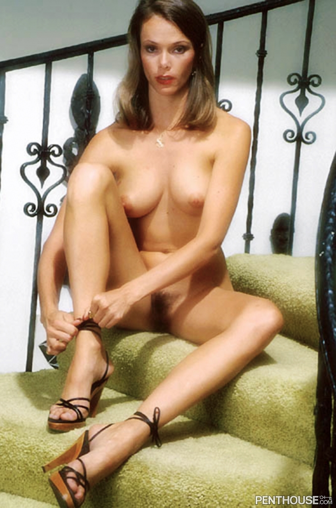 Amber Ramsey posing nude for the December 1978 issue of Penthouse