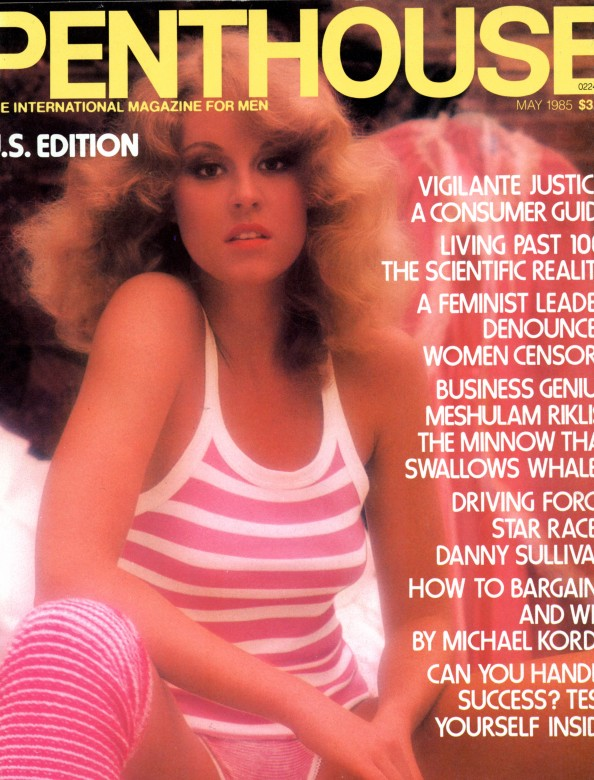 Andi Leigh on the cover of Penthouse Magazine May 1985