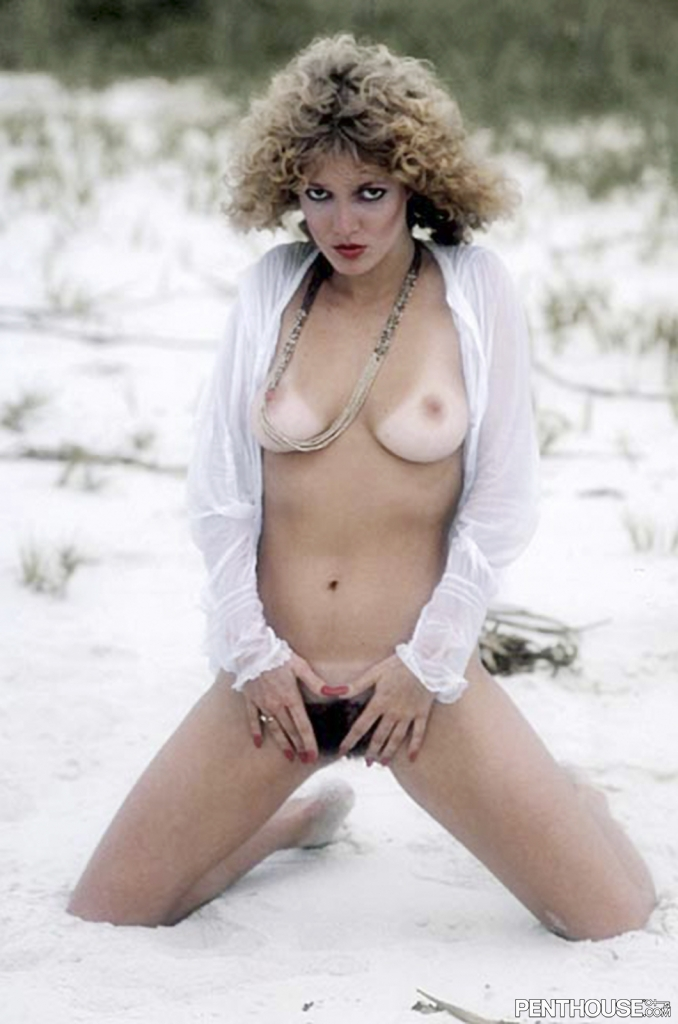 Annie Hockersmith posing nude for the April 1980 issue of Penthouse