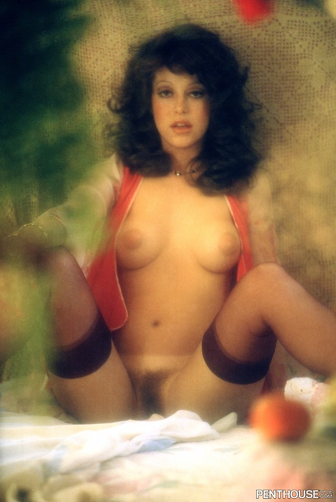 Ava Gallay posing nude for the May 1975 issue of Penthouse