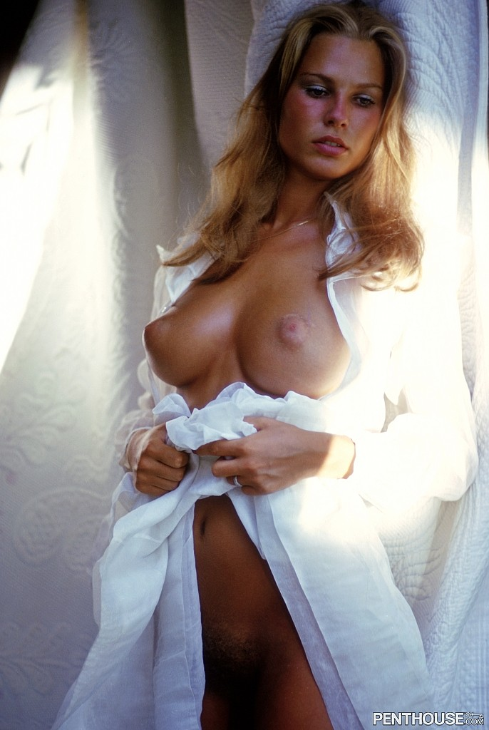 Beatrice Vogler posing nude for the February 1974 issue of Penthouse