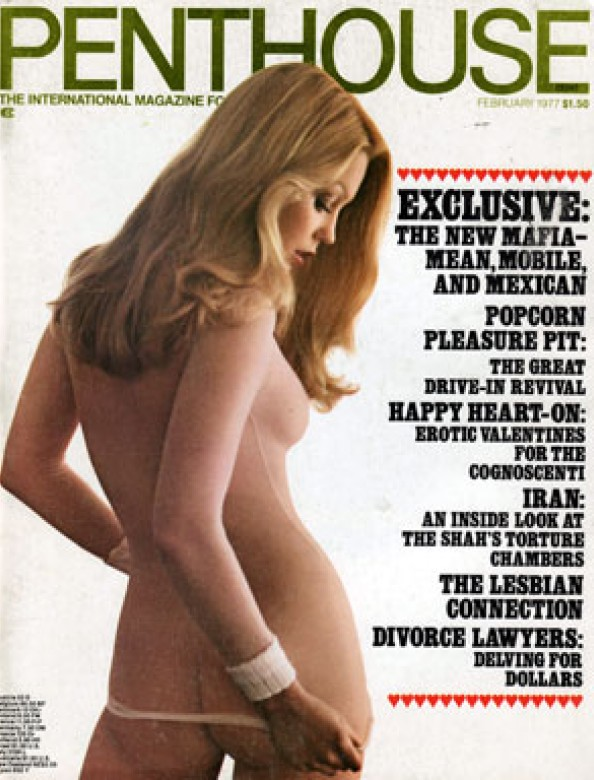 Betsy Harris on the cover of Penthouse magazine