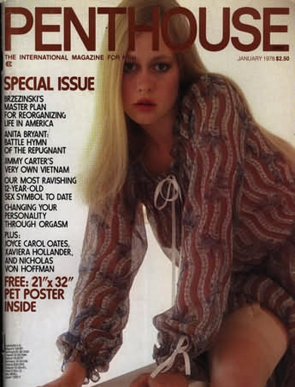 Carrie Nelson on the cover of Penthouse magazine