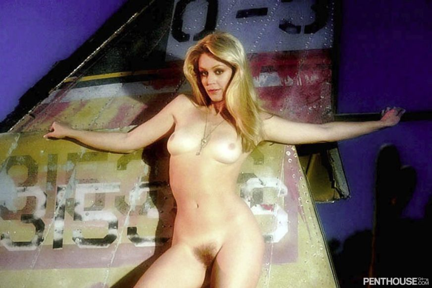 Cheryl Rixon posing nude for the December 1977 issue of Penthouse