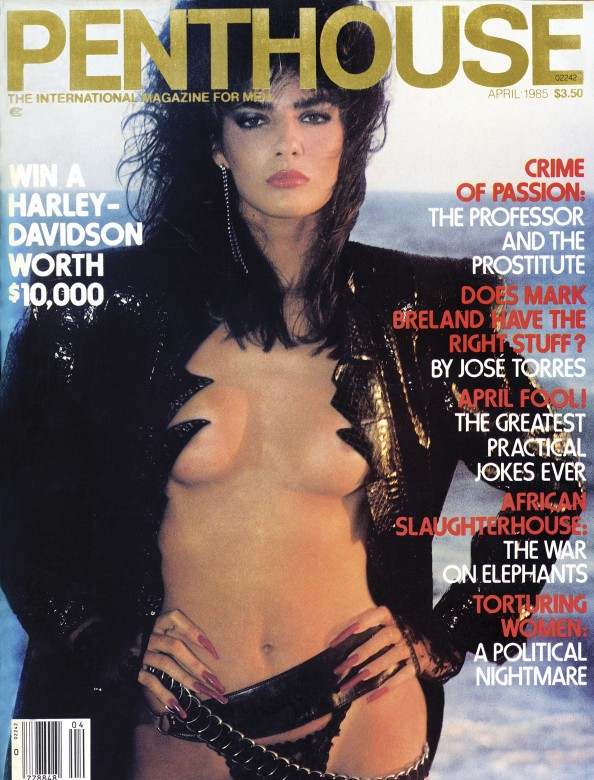 Fasha on the cover of Penthouse Magazine April 1985